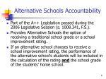 alternative schools accountability