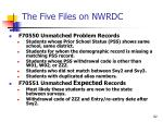 the five files on nwrdc