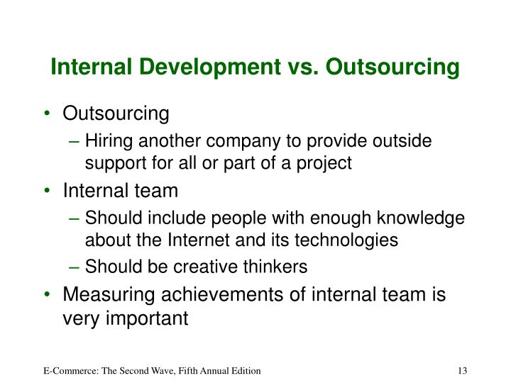 Internal Development vs. Outsourcing