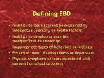 defining ebd