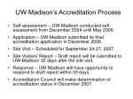 uw madison s accreditation process