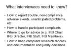 what interviewees need to know42