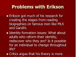 problems with erikson