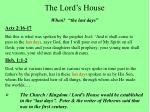 the lord s house3