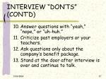interview don ts cont d17