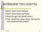 interview tips cont d10