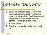 interview tips cont d11