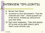 interview tips cont d12