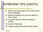 interview tips cont d13