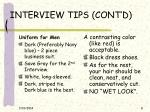interview tips cont d8