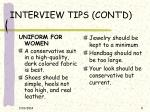 interview tips cont d9