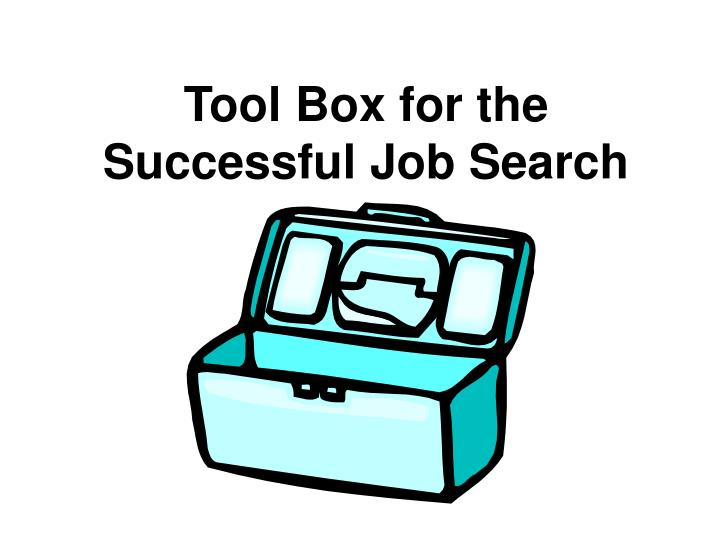 Tool box for the successful job search