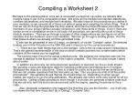 compiling a worksheet 2