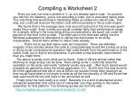 compiling a worksheet 21