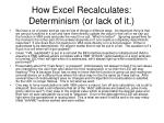 how excel recalculates determinism or lack of it