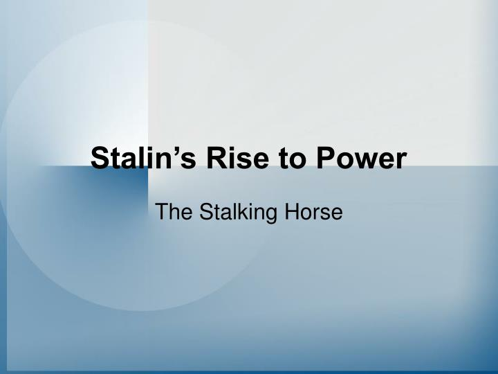 stalin s rise to power n.