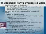 the bolshevik party s unexpected crisis