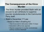 the consequences of the kirov murder