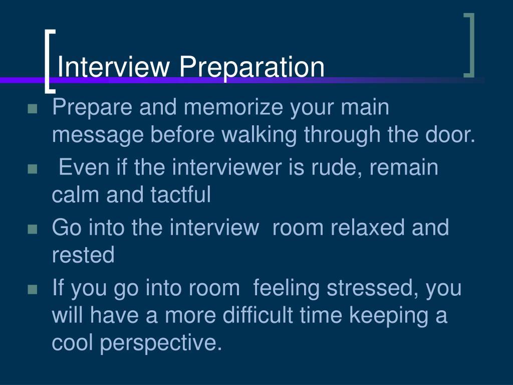 Interview Preparation