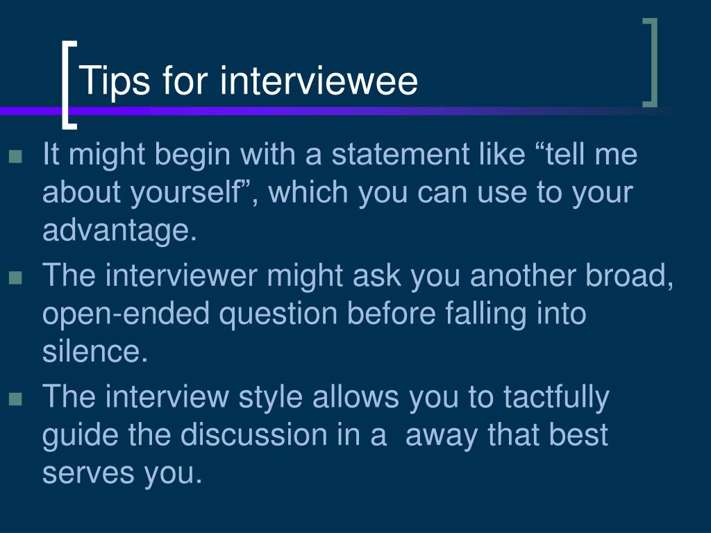 Tips for interviewee