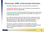 structured unstructured interviews