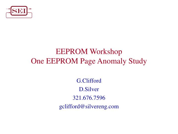 eeprom workshop one eeprom page anomaly study n.