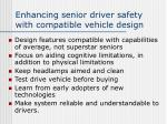 enhancing senior driver safety with compatible vehicle design