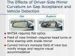 the effects of driver side mirror curvature on gap acceptance and vehicle detection