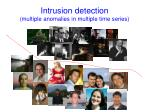 intrusion detection multiple anomalies in multiple time series
