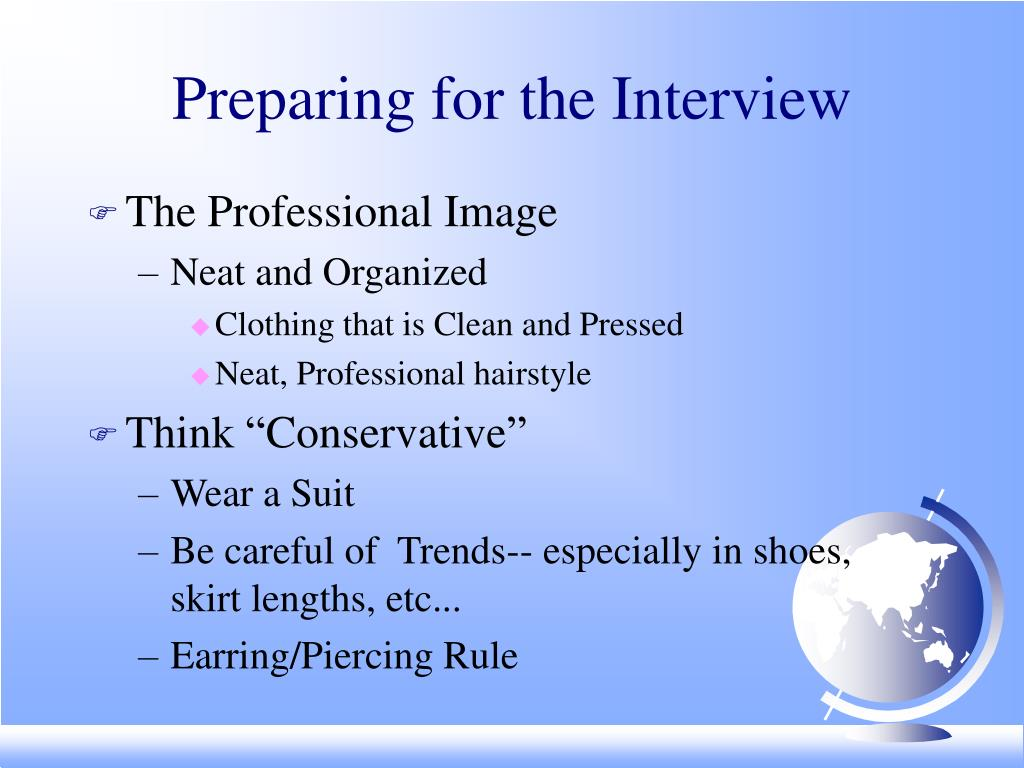 Preparing for the Interview