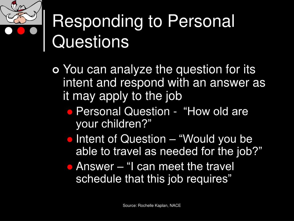 Responding to Personal Questions