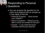 responding to personal questions17