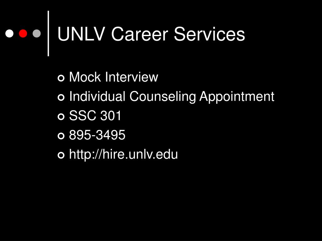 UNLV Career Services