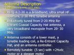 antenna description specific to the hms gotland