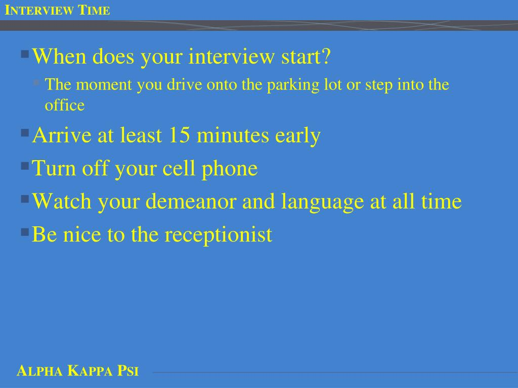 Interview Time