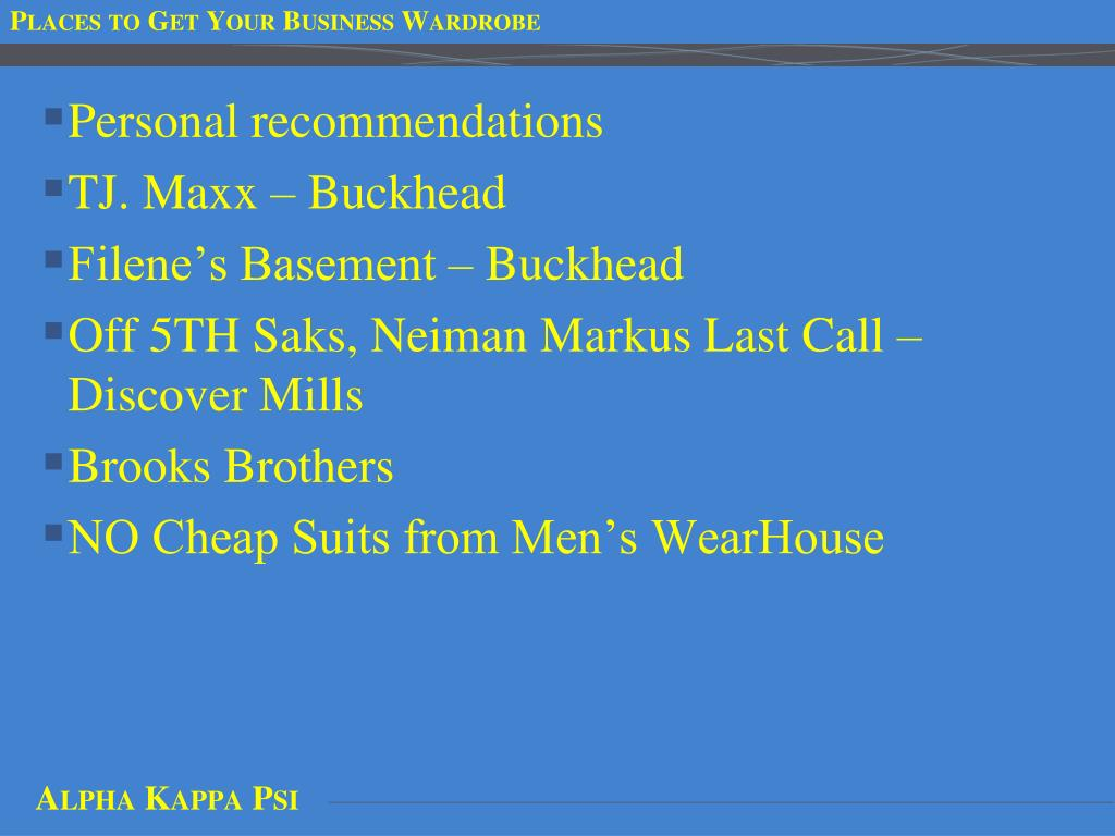 Places to Get Your Business Wardrobe
