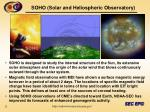 soho solar and heliospheric observatory