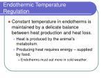endothermic temperature regulation