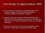 civil society in nigeria before 19991