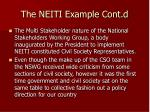 the neiti example cont d