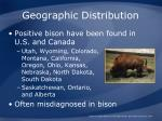 geographic distribution1