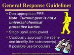 general response guidelines