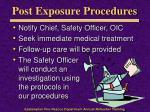 post exposure procedures