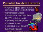 potential incident hazards1