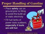 proper handling of gasoline
