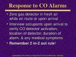 response to co alarms