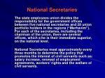 national secretaries