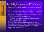 the enlightenment 17 th century