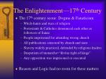the enlightenment 17 th century1
