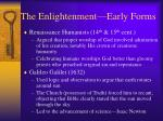 the enlightenment early forms